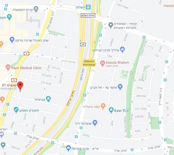 מפה גוגל